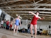 vintage bathing suit badminton contest - Sommer & Brenda