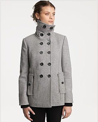 "Juicy Couture ""Goth Couture"" Wool Flannel Pea Coat"